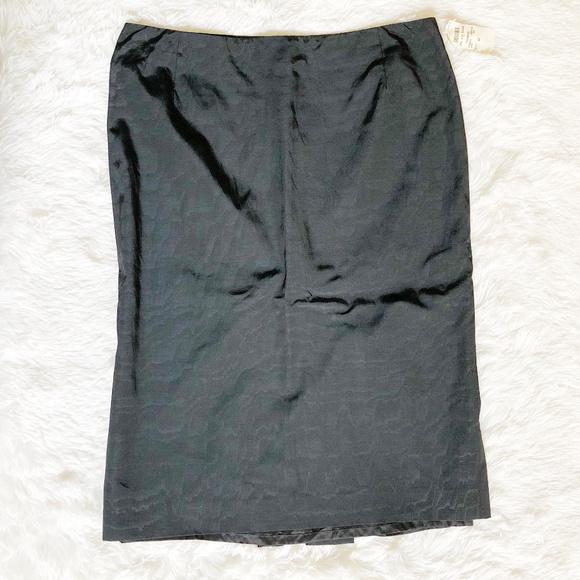 eb15f55b3e Alexander McQueen Black Waves Skirt Slit Size 42